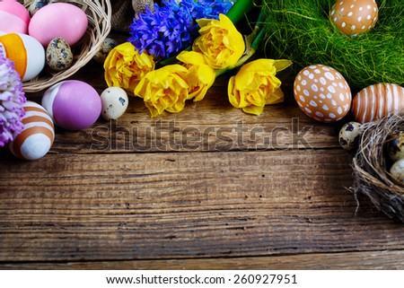 Easter decorations, May be used as background