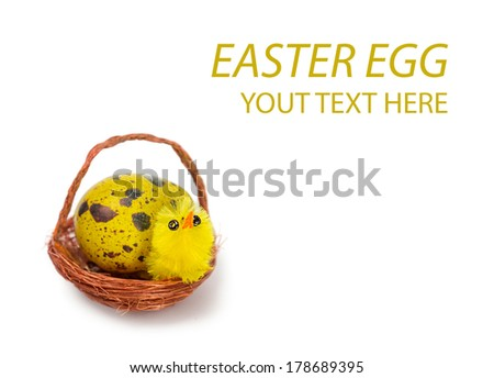 Easter egg and chicken