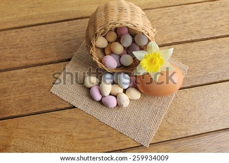 Easter Egg Display - stock photo