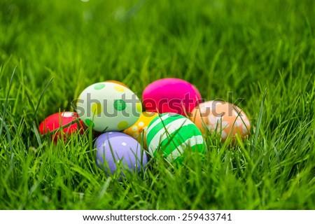 Easter, egg, hunt. - stock photo