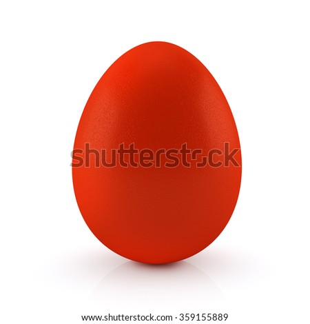 Easter egg isolated on a white background. 3D render