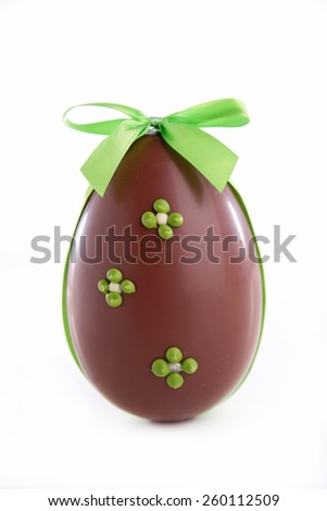easter egg isolated on white - stock photo