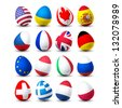 easter egg with flag - stock photo