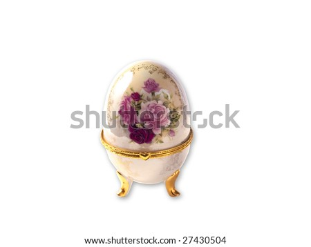 easter egg with white background - stock photo