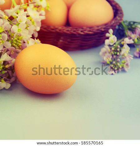 Easter eggs. - stock photo