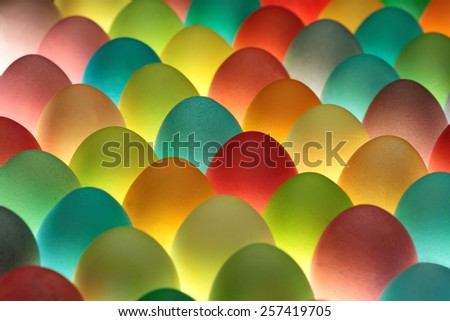 Easter eggs background - stock photo
