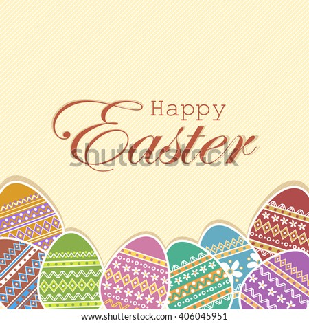 Easter eggs background greeting easter card stock illustration easter eggs background eeting easter card m4hsunfo Choice Image