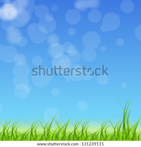 Easter eggs card with colourful eggs.  illustration - stock photo