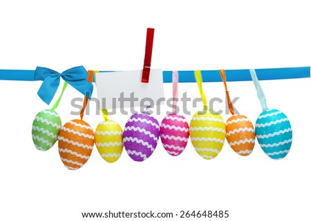 Easter eggs collection on white - stock photo