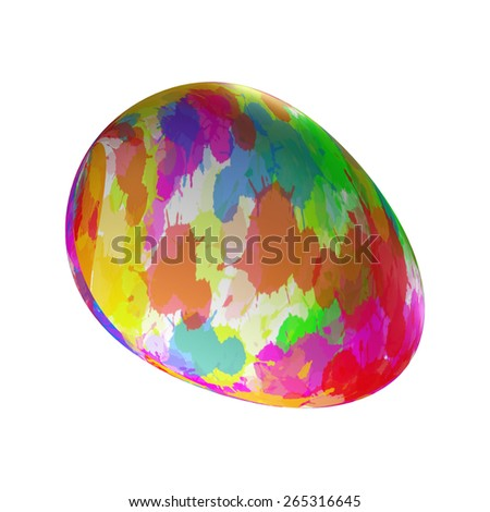 Easter Eggs Colorful - stock photo