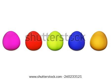 Easter eggs - 3d rendered illustration - stock photo