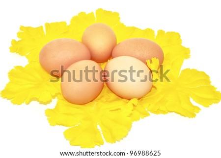 Easter eggs decorative - stock photo