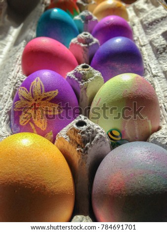 Easter eggs drying