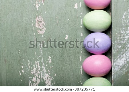 Easter eggs in a frame - stock photo