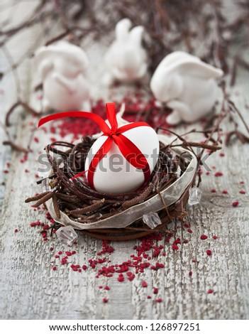 Easter Eggs Nest - stock photo