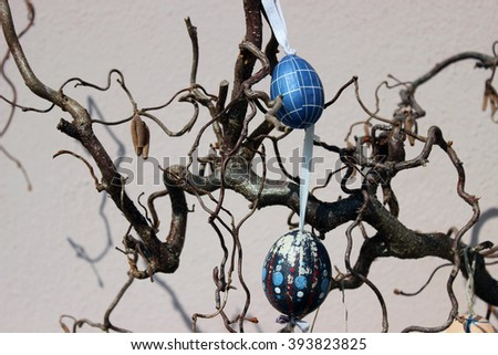 Easter eggs on the tree, decor