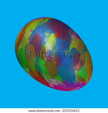 Easter Eggs Paint - stock photo