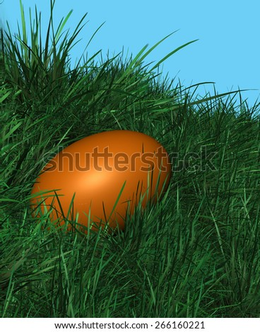 Easter Eggs Tradition - stock photo