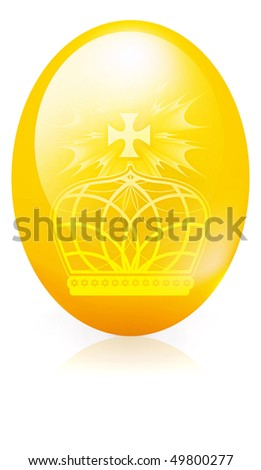 Easter eggs with decor elements on a white background. Bitmap version - stock photo
