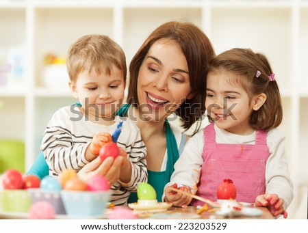 Easter fun and joy - stock photo