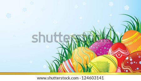 Easter greeting card with copyspace. - stock photo