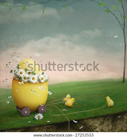 Easter history - stock photo