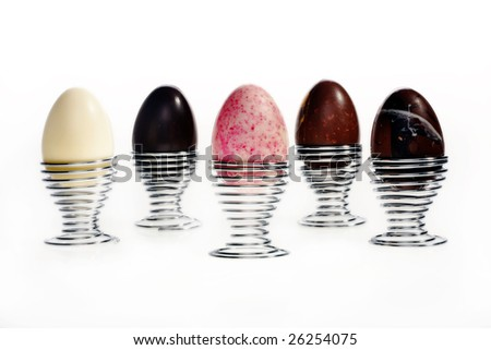Easter holidays chocolate image isolated with area for text - stock photo