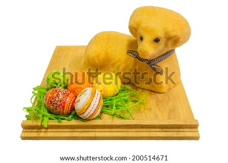 Easter Lamb isolated on a white background. - stock photo