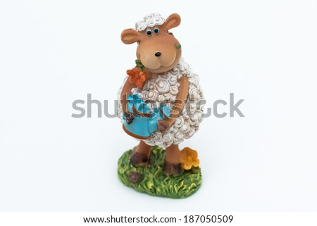 Easter lamb on white background