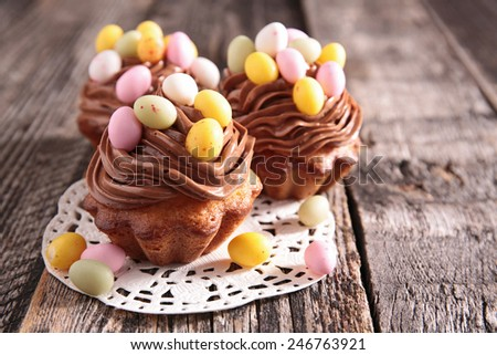 easter muffin - stock photo