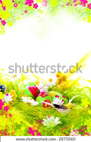 Easter Postcard - stock photo