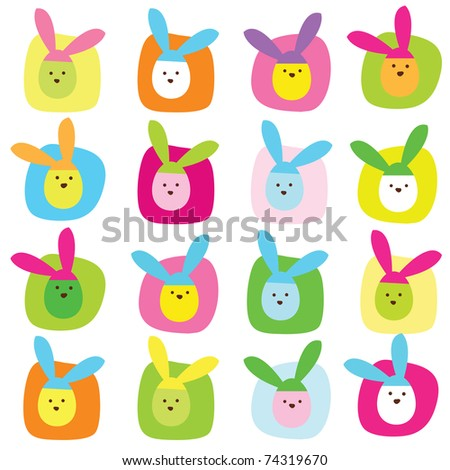 Easter seamless pattern - stock photo