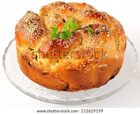 Easter Sweet Bread, Kulitch - stock photo