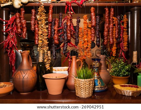 eastern dried fruits - stock photo