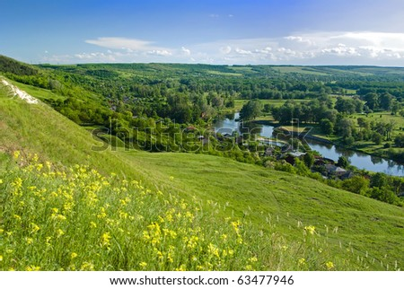Eastern Europe spring nature hills