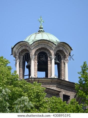 Eastern European Church, Sveta Nedelya - stock photo