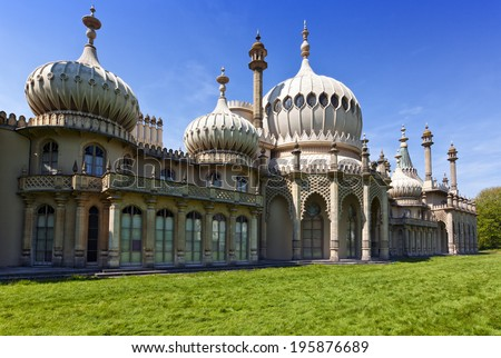Eastern facade of the Royal pavilion at Brighton - stock photo