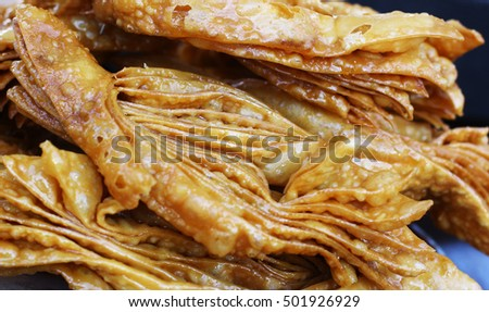 Eastern mediterranean dessert honey baklava close up concept background