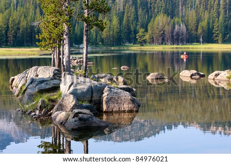 Eastern Oregon Lake - stock photo