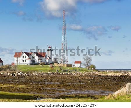 Eastern Point Lighthouse - stock photo