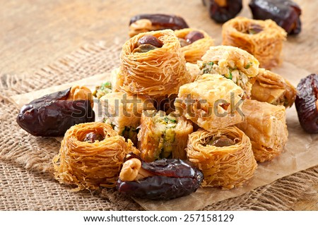Eastern sweets - stock photo