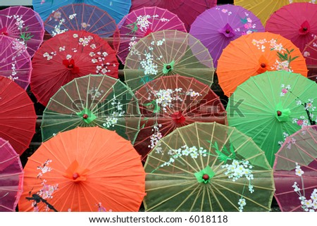 eastern umbrellas - stock photo