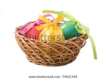 Easters Egg tied with a ribbon