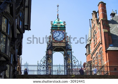 Eastgate Clock, Chester, England, UK - stock photo