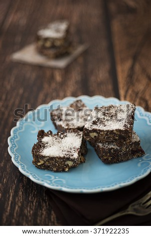 Easy chocolate bars for dessert - stock photo