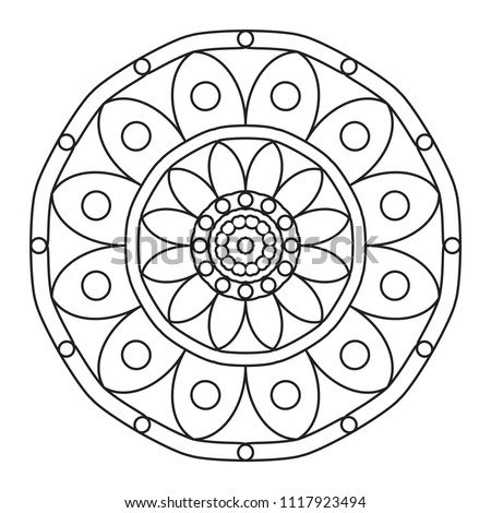 easy mandalas basic simple mandala pattern stock illustration 1117923494 shutterstock. Black Bedroom Furniture Sets. Home Design Ideas