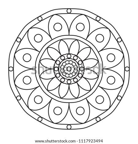easy mandalas basic simple mandala pattern stock illustration 1117923494 shutterstock. Black Bedroom Furniture Sets. Home Design Ideas
