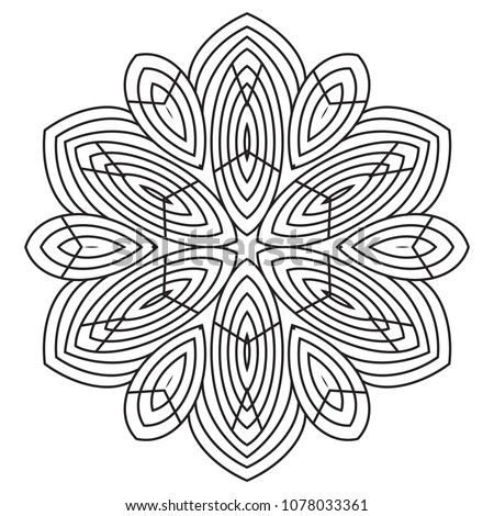 Easy Mandalas Coloring Page For Beginner And Senior Relaxation Meditation