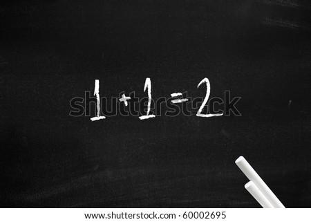 Easy maths - stock photo