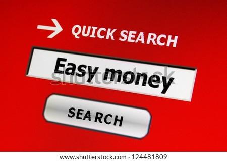 Easy money - stock photo